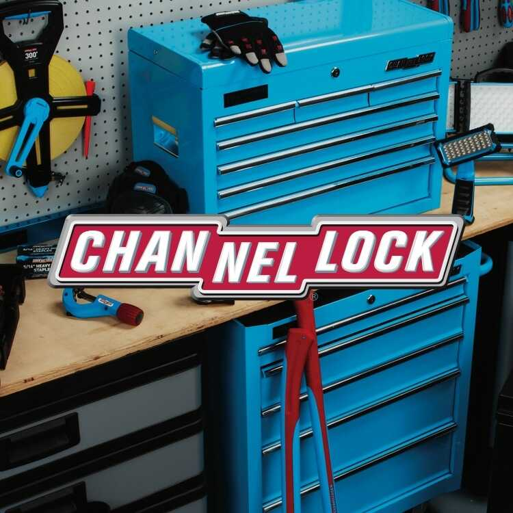 Channellock tools and work bench