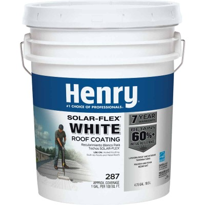 Henry SolarFlex 5 Gal. White Acrylic Latex Elastomeric Roof Coating