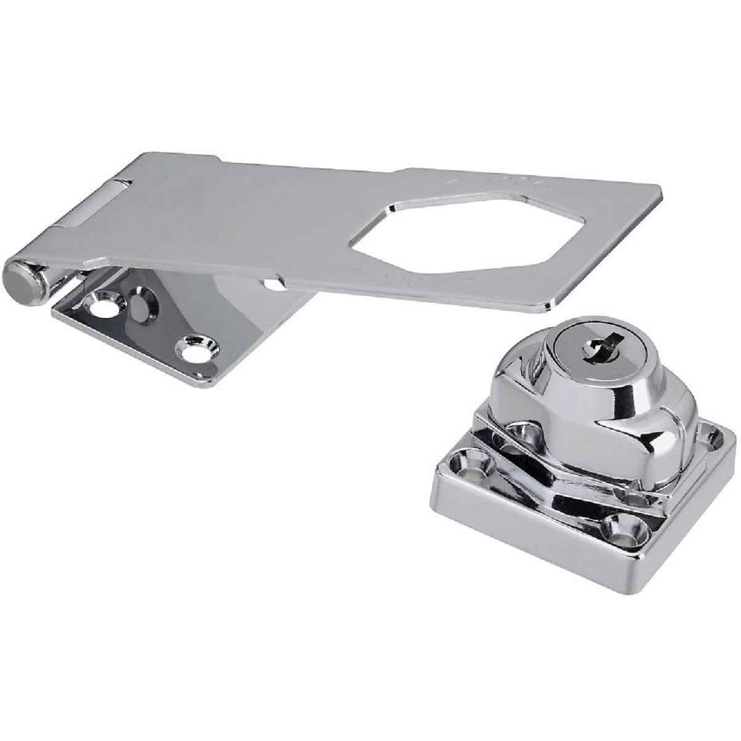 National 4-1/2 In. Keyed Different Hasp Lock Image 1