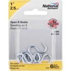 National 1 In. Zinc Heavy Open S Hook (6 Ct.) Image 2