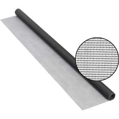 Phifer 48 In. x 84 In. Charcoal Fiberglass Screen Cloth Ready Rolls