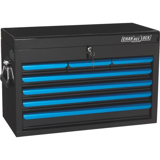 Channellock 26 In. 7-Drawer Black and Blue Tool Chest