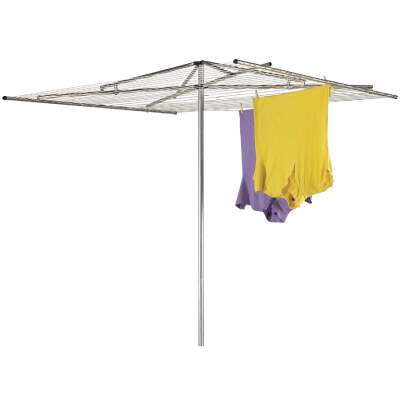 Household Essentials Sunline 72 In. 72 In. 180 Ft. Drying Area Umbrella Style Clothes Dryer