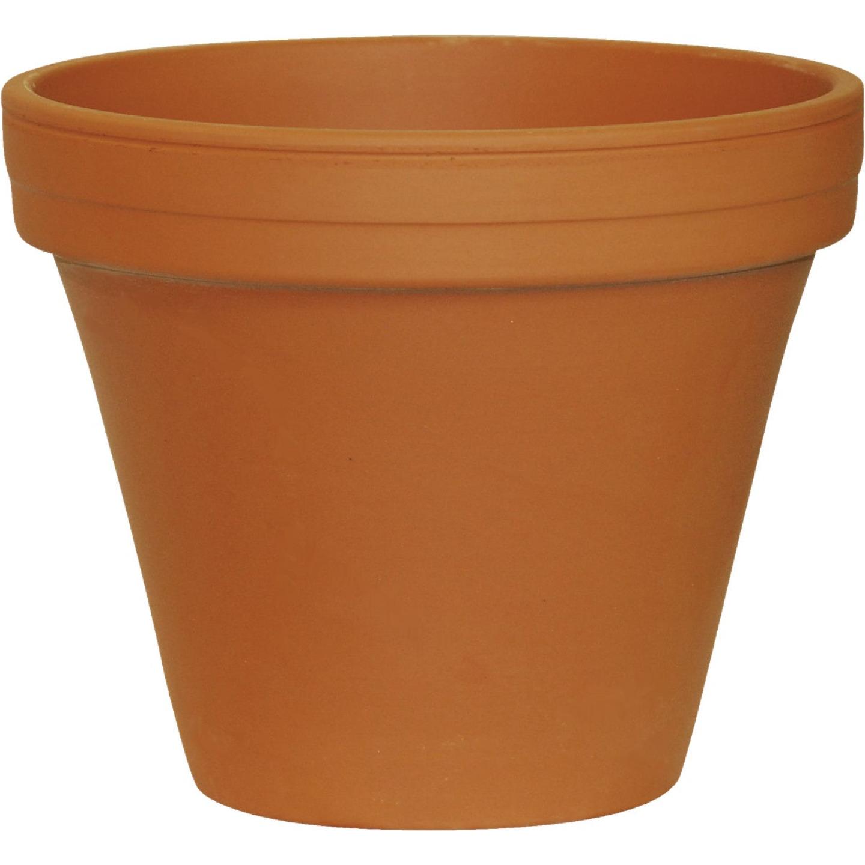 Ceramo 6-3/4 In. H. x 7-3/4 In. Dia. Terracotta Clay Standard Flower Pot Image 1