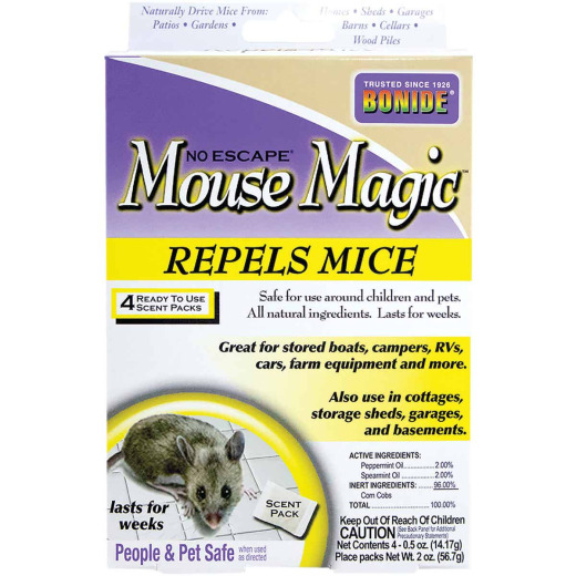 Bonide Mouse Magic 2 Oz. Granular Mouse Repellent (4-Pack)