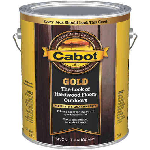 Cabot Gold Exterior Stain, Moonlit Mahagany, 1 Gal.