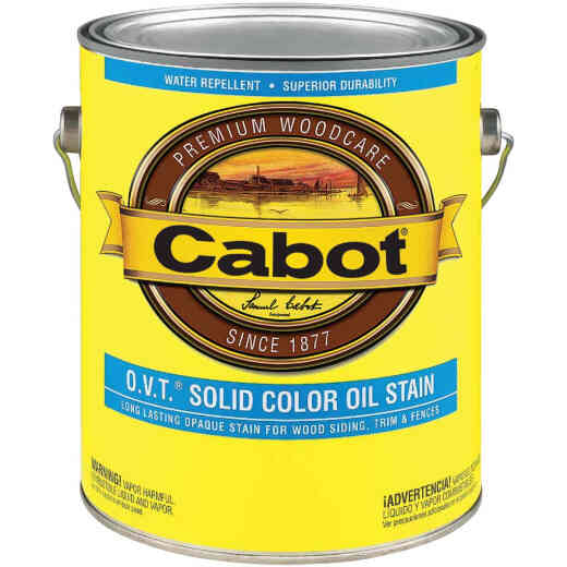 Cabot O.V.T. Solid Color Oil Exterior Stain, White Base, 1 Gal.